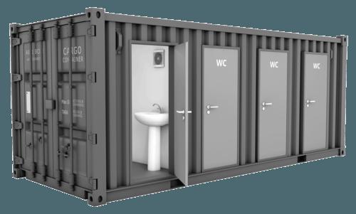 Sanitärcontainer 10' WC mieten in Herzogenrath