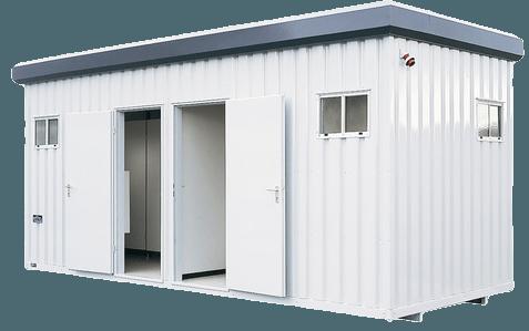 Sanitärcontainer 20' Schwarz-Weiß mieten in Neuwied