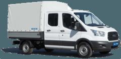 Pritschenwagen Doppelkabine mit Plane mieten in München