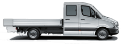 Pritschenwagen Doppelkabine offene Ladefläche mieten in Haan