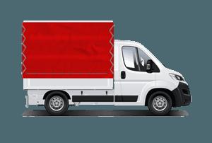 Pritschenwagen Einzelkabine mit Plane mieten in München